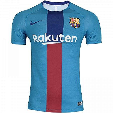 Camisa Barcelona Azul 19/20 Nike - Masculina Frete Grátis