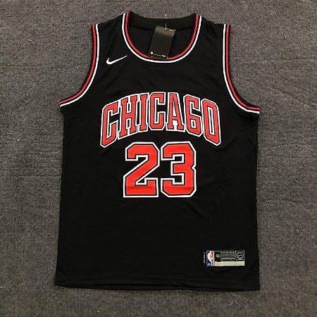 Camiseta Basqueta Chicago Preta 23 19/20 Nike - Masculina Frete Grátis