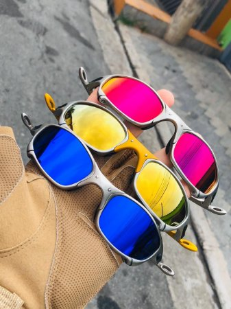 Oakley Combo 3 Lupa Lente Brilho Reto Armação Plasma Frete Gratis