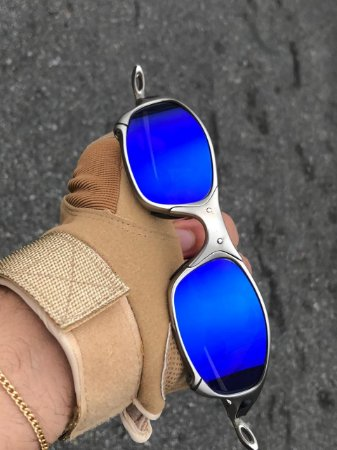 Oakley Juliet Armação Plasma Lente Azul Frete Gratis