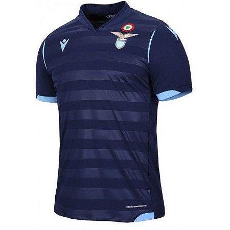 Camiseta Lazio Azul Marinho 19/20 - Masculina Frete Grátis