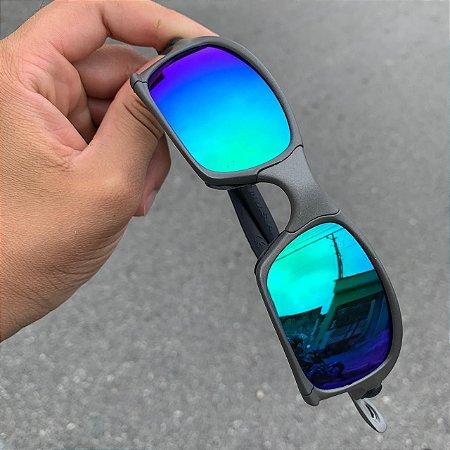 Óculos Oakley Squared Lente Verde Brilho Reto Frete Grátis