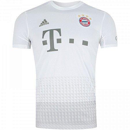 Camiseta bayern Munique Branca 19/20 - Masculina (Frete Grátis)