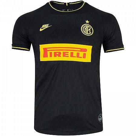 Camisa Inter De Milão  Preta 19/20 Nike - Masculina (Frete Grátis)