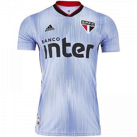 Camisa do São Paulo Azul Adidas 19/20  - Masculina (Frete Grátis)