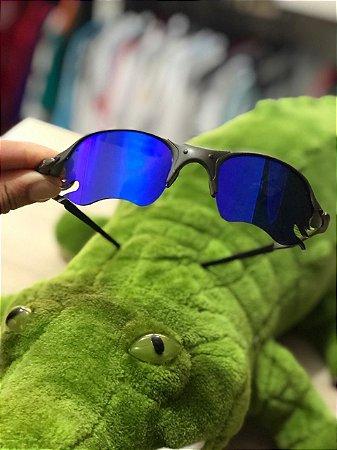 Óculos Oakley Romeo 2 Azul Brilho Reto Lente Fire Frete Grátis