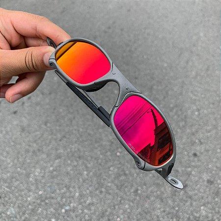 Óculos Oakley Juliet Vermelha Lente Brilho reto Frete Grátis