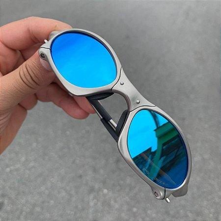 Óculos Oakley Penny Lente Azul Brilho Reto Armação Plasma Frete Grátis
