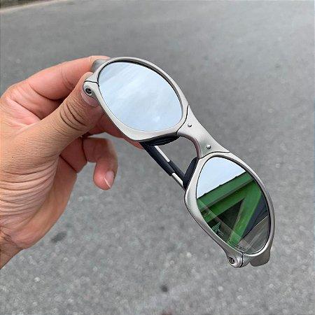 Óculos Oakley Penny Lente Prata Brilho Reto Armação Plasma Frete Grátis