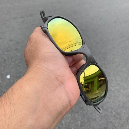 Óculos Oakley Juliet Lente Gold Brilho Reto Armação X-metal Frete Grátis