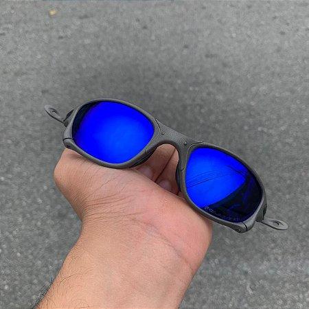 Óculos Oakley Double-X Lente Azul Escuro Brilho Reto Armação X-Metal Frete Grátis