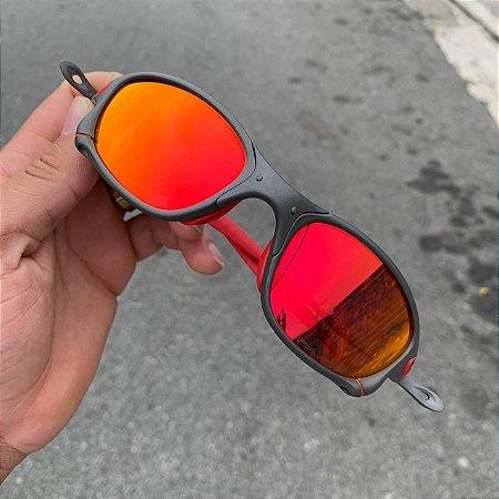 Óculos Oakley Double-X Lente Vermelha Brilho Reto Armação X-Metal Frete Grátis