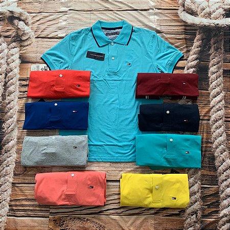 Lote 6 Camisetas Polo Tommy Hilfiger Frete Grátis 02 - ATACADO
