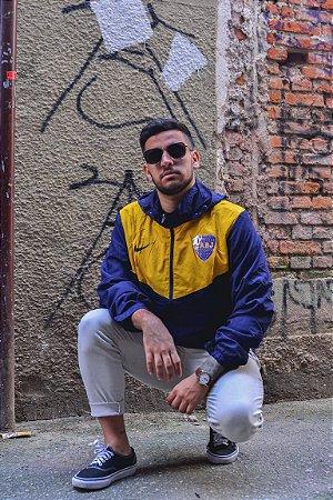 Jaqueta Corta Vento Boca Junior Amarelo Com Azul Frete Grátis