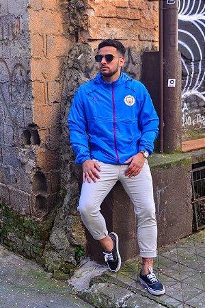 Jaqueta Corta Vento Manchester City Azul Bebe Frete Grátis