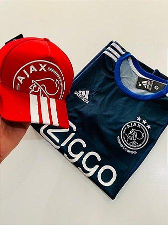 Camiseta Ajax + Boné AJax Com Frete Grátis