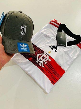 Kit Camiseta Flamengo Branca + Boné Juventus Com Frete Grátis