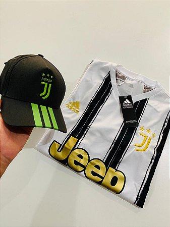 Kit Camiseta Juventus + Boné Com Frete Grátis