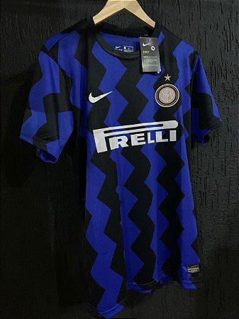 Camiseta Inter De Milão Listrada 2021 Com Frete Grátis