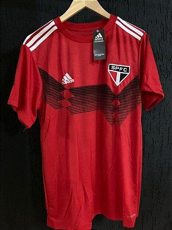 Camiseta São Paulo Vermelha Treino Com Frete Grátis