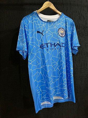 Camiseta Manchester City Azul Bebe 2021 Com Frete Grátis