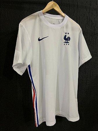 Camiseta França Branca Jogo 2021 Com Frete Grátis