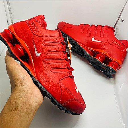 Ténis Nike Shox Nz Vermelho Com Frete Grátis