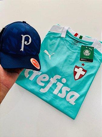 Kit camiseta Palmeiras Verde + Boné Com Frete Grátis