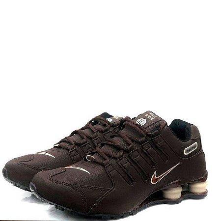 DUPLICADO - Ténis Nike Shox Nz Branco Com Detalhe Verde Com Frete Grátis