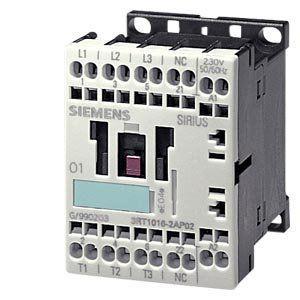 Contator, AC-3 4 KW / 400 V, 1 NO, AC 110 V, 50/60 Hz, 3 pólos, SIZE S00, CAGE BRAÇADEIRA LIGAÇÃO 3RT1016-2AF01