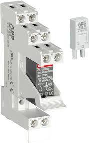 Rele Acoplador Abb -cr-p024dc1 Com Base  8 pinos