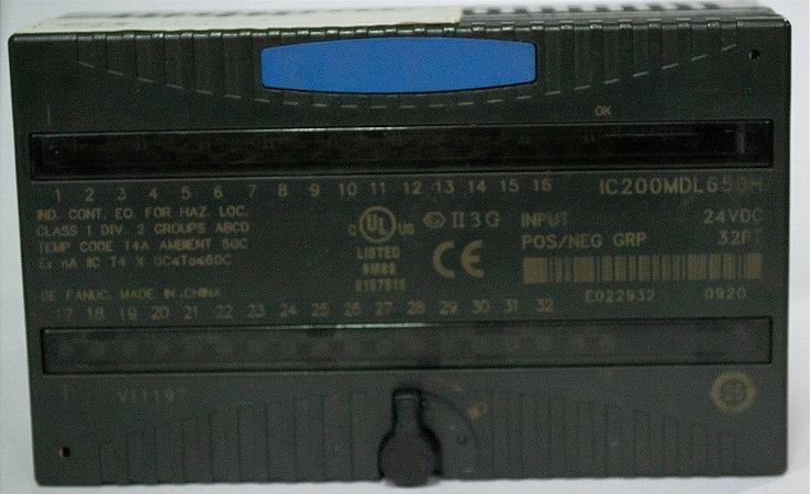 Módulo de entrada, 24VDC Pos / Neg Logic 32 Pontos - IC200MDL650