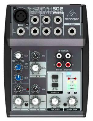 502 - Mesa De Som / Mixer Compacto Xenyx 502 - Behringer