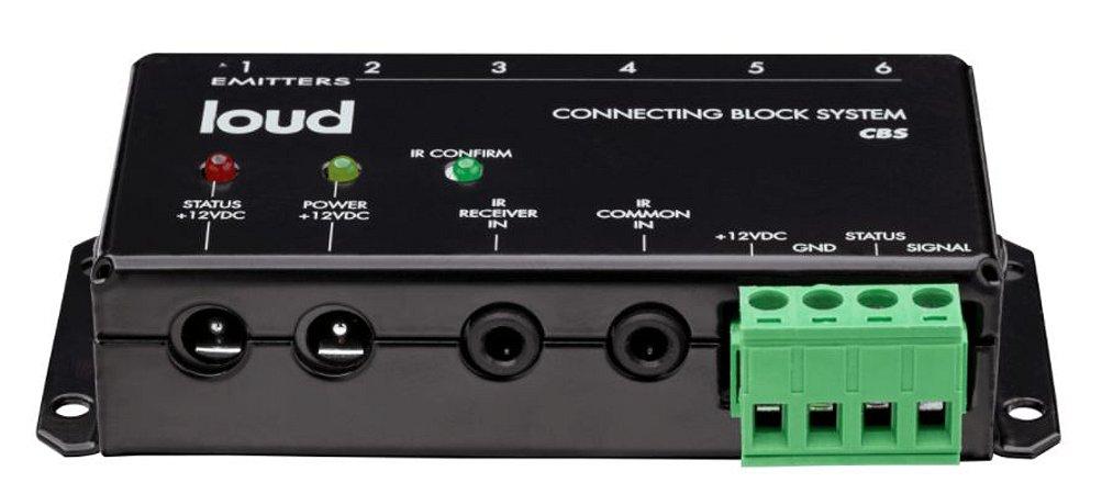 CBS Connecting Block (bloco de conexão) para interface de repetidores e emissores de IR