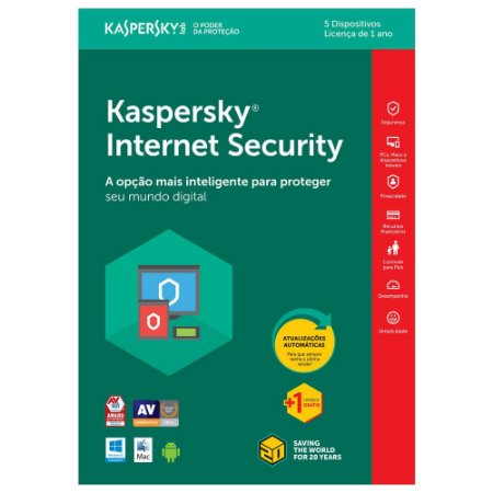 KASPERSKY INTERNET SECURITY 2020 MULTIDISPOSITIVOS 1 PC - DIGITAL PARA DOWNLOAD