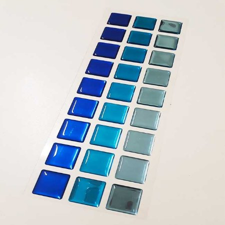 Pastilha Adesiva Resinada Espelhada 27x8 cm - Piscinas - P032