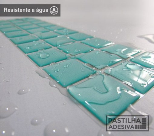 Faixa Pastilha Adesiva Resinada 27x8 cm - AT02 - Verde