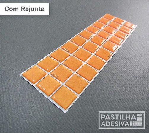 Faixa Pastilha Adesiva Resinada 27x8 cm - AT03 - Laranja