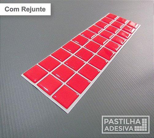 Faixa Pastilha Adesiva Resinada 27x8 cm - AT07 - Vermelho