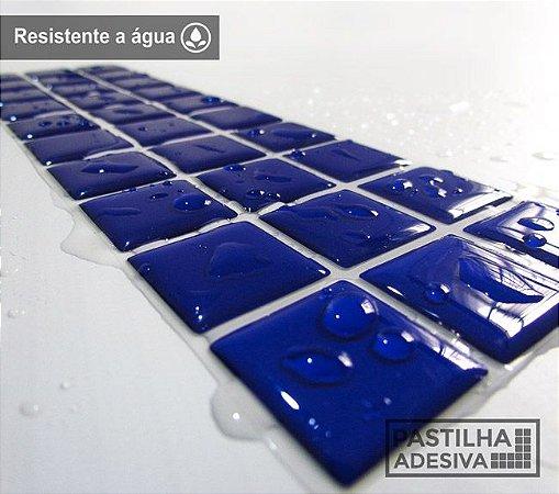 Faixa Pastilha Adesiva Resinada 27x8 cm - AT13 - Azul