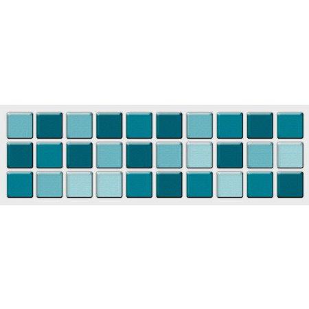 Faixa Pastilha Adesiva Resinada 27x8 cm - AT014 - Azul