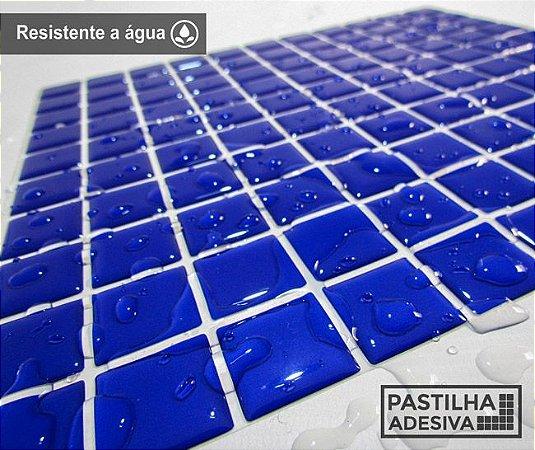 Placa Pastilha Adesiva Resinada 30x27 cm - AT034 - Azul