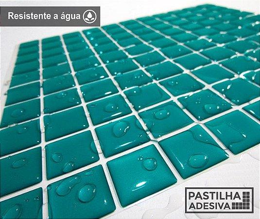 Placa Pastilha Adesiva Resinada 30x27 cm - AT038 - Verde