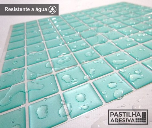 Placa Pastilha Adesiva Resinada 30x27 cm - AT044