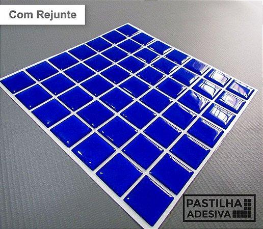 Placa Pastilha Adesiva Resinada 18x18 cm - AT066 - Azul
