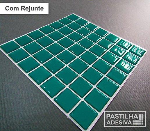 Placa Pastilha Adesiva Resinada 18x18 cm - AT070 - Verde