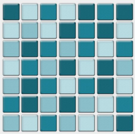 Placa Pastilha Adesiva Resinada 18x18 cm - AT078 - Azul