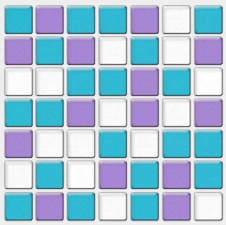 Placa Pastilha Adesiva Resinada 18x18 cm - AT079 - Azul Roxo