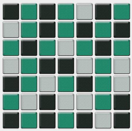 Placa Pastilha Adesiva Resinada 18x18 cm - AT080 - Verde