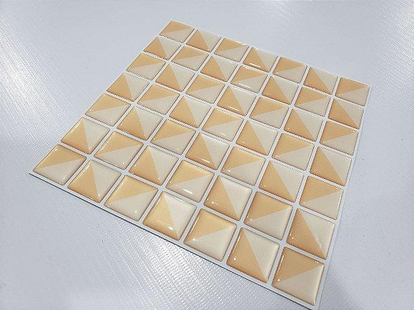 Placa Pastilha Adesiva Resinada 18x18 cm - AT083 - Creme